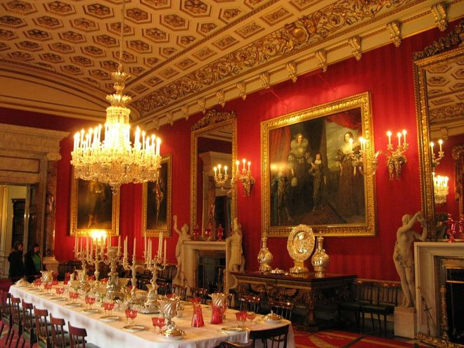Chatsworth House, Dining room