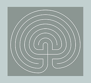 English: Classical Seven-Circuit Labyrinth