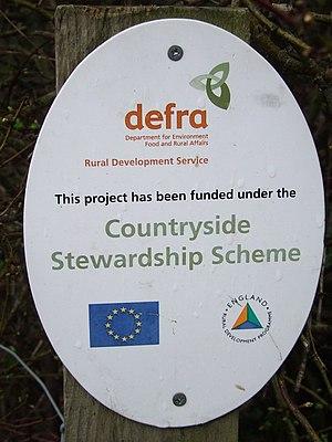 English: Countryside Stewardship Scheme sign A...