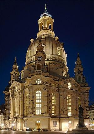 Church of Our Lady, Dresden. Français : Église...