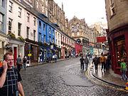 Calle Victoria, en Old Town, Edimburgo.