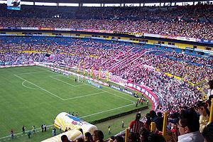 View of the Estadio Jalisco.
