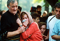Funeral of a civilian killed in Sarajevo.