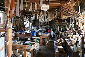 English: Fordyce Joiner's Workshop The interio...