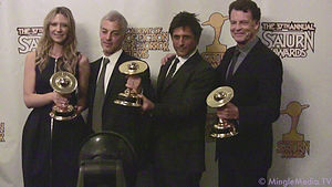 "Cast of the TV series ""Fringe"" holdi..."