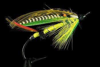 English: Green Highlander salmon fly. The hook...
