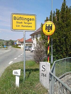 Deutsch: Deutsch-schweizer Grenze bei Büßlingen.