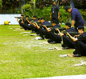 A recruits of Royal Malaysian Police senior of...