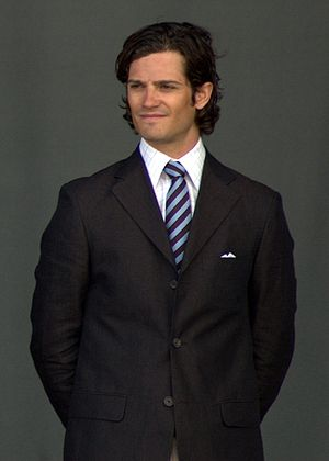 This is prince Carl Philip of Sweden at the op...