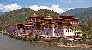 Puntang Dechen Phodrang Dzong in Punakha, or &...