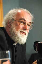 Brian made this picture while Rowan Williams, ...