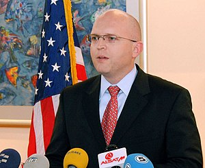 English: US Ambassador Philip T. Reeker in Mac...