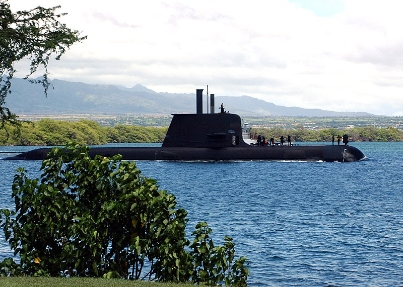 File:US Navy 040823-N-3019M-003 The Australian Collins-class submarine, HMAS Rankin (SSK 78), enters Pearl Harbor for a port visit after completing exercises in the Pacific region.jpg