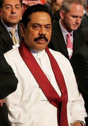 Mahinda Rajapaksa, president...