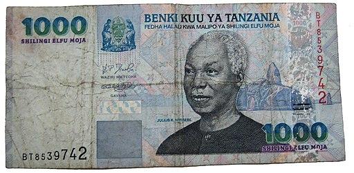 1000 tz shillings front