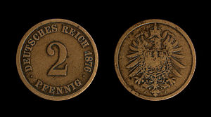 Coins of the German Empire (1871-1918), 2 Pfen...