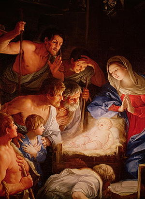 English: Adoration of the shepherds -seems to ...