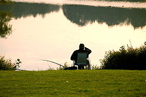 English: This image shows a fisherman. Deutsch...