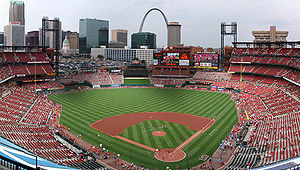 English: Panorama of Busch Stadium.