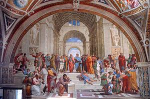 A Escola de Atenas, afresco no Vaticano