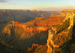 sunset at Grand Canyon (Arizona, USA) seen fro...