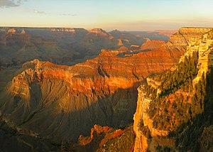 sunset at Grand Canyon (Arizona, USA) seen fro...