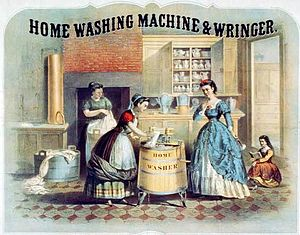 Deutsch: Home Washing Machine and Wringer