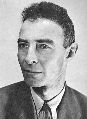 Official portrait of J. Robert Oppenheimer, fi...