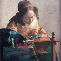 """The Lacemaker"" by Johannes Vermeer"
