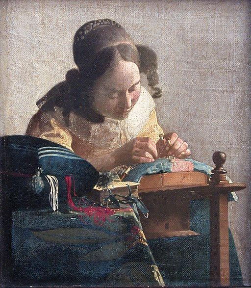 """""""The Lacemaker"""" by Johannes Vermeer"""