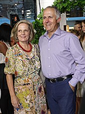 Turnbull and his wife Lucy Turnbull, 2003–04 Sydney Lord Mayor, in January 2012