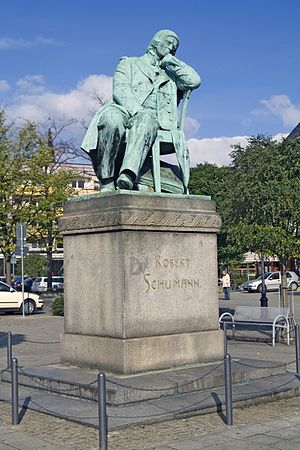 Robert Schumann, monument in Zwickau