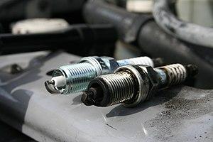 English: Spark plugs