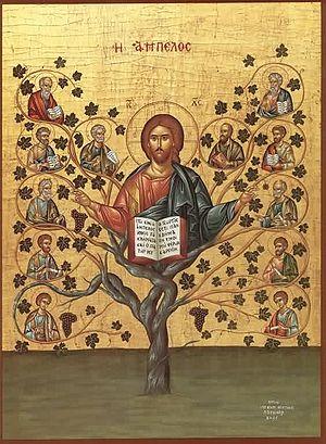 Christ True Vine Deutsch: Christus, der wahre ...