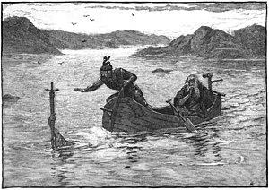 The Lady of the Lake gives Excalibur to King A...