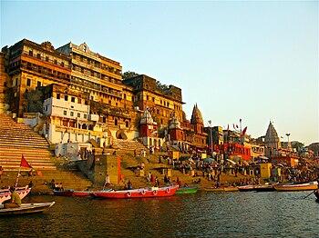 Ahilya Ghat by the Ganges, Varanasi, named aft...