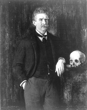 Ambrose Bierce. Portrait by J. H. E. Partingto...