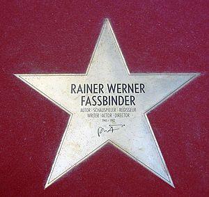 Deutsch: Stern von Rainer Werner Fassbinder au...