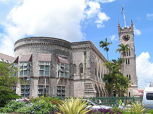 Parliament building (west wing) in Bridgetown,...