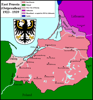 Germany's province of East Prussia from 1923 t...