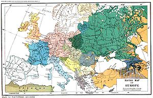 English: Ethnic map of Europe. When the creato...