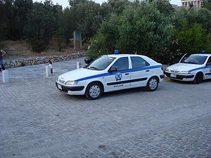 A Citroen Xsara patrol car of the Hellenic (Gr...