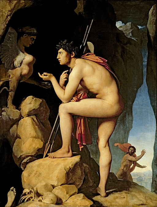 """Oedipus and the Sphinx"" by Jean-Auguste-Dominique Ingres"