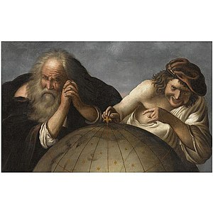 Demócrito y Heráclito. Johann Moreelse