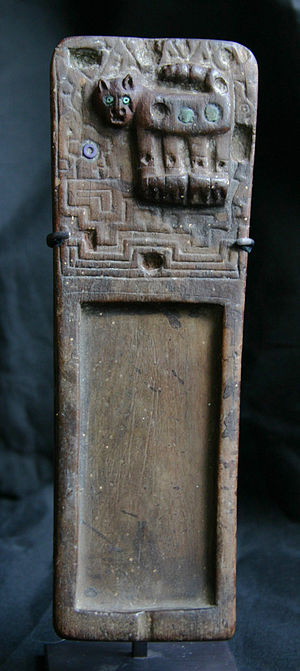 English: rapero (snuff tablet), Tiwanaku 200-6...