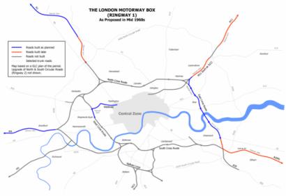 London Motorway Box 1960s Plan