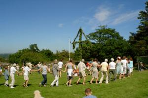 English: Midsummer celebration at Årsnäs, by t...
