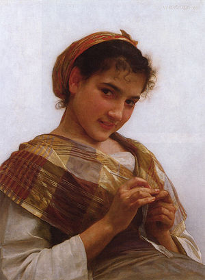 Young Girl Crocheting (1889)