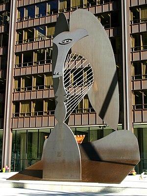 Picasso sculpture in Daley Plaza, Chicago, IL, USA