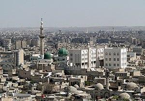 View of Aleppo from the Citadel, Syria Françai...
